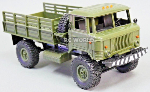 1/16 RC 4WD Truck ROCK CRAWLER Scale MILITARY Truck LED + Suspension -RTR- Green