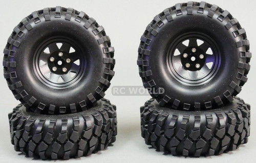 1/10 SCALE TRUCK RIMS 1.9 STEEL STAMPED Beadlock Wheels 105MM Big Treads