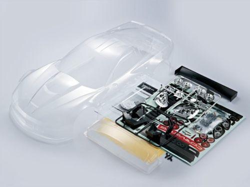 1/7 Traxxas XO-1 RC Car BODY Shell CHEVY CORVETTE w/Light Buckets -CLEAR-