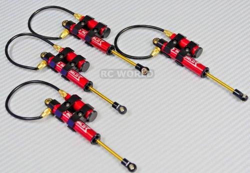 RC 1/10 TRUCK Suspension 110MM PIGGYBACK SHOCKS ABSORBER Aluminum RED -4PCS-