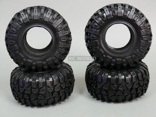 RC 1/10 Truck TIRES 130MM KNOBBY TIRES W/ Foam 2.2 BEADLOCK Rock Crawler (4PCS)