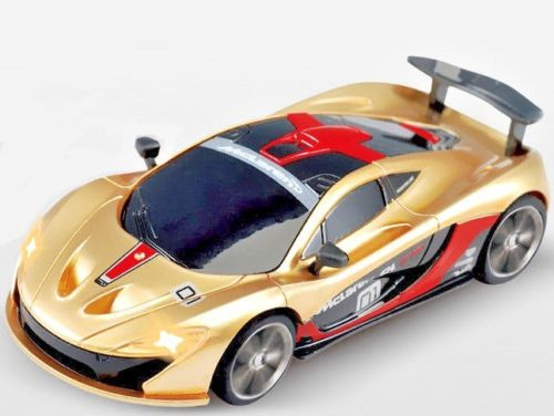 RC 1/43 Radio Control Micro MCLAREAN P1 GTR w/ LED Lights GOLD
