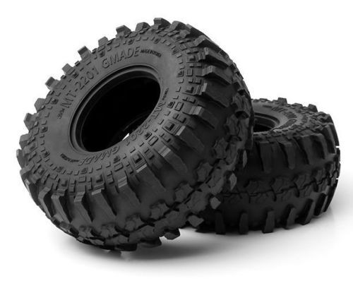 Gmade 1/10 TRUCK 2.2 RUBBER TIRES BEADLOCK Rock Crawler Off-Road TIRES MT2201