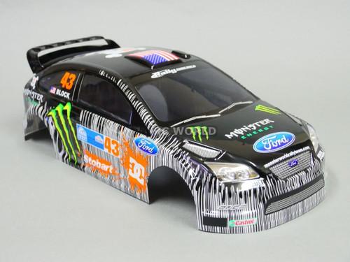 1/10 RC Car BODY Shell FORD FOCUS Rally KEN BLOCK Monster Energy 190MM