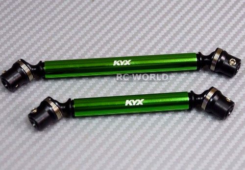 Axial SCX10 II 2 CARBON STEEL DRIVESHAFT Front + Rear GREEN 110MM + 130MM
