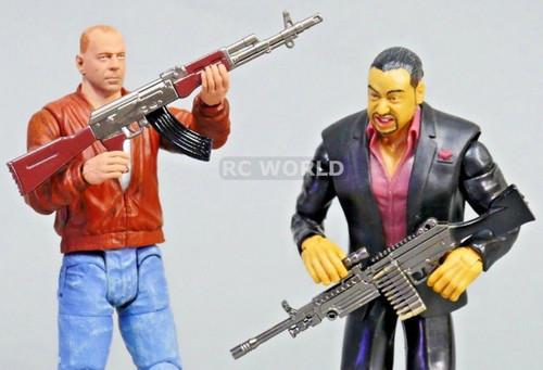 1/10 Scale Accessories AK-17 + LIGHT MACHINE GUN Metal Gun Models FortNite