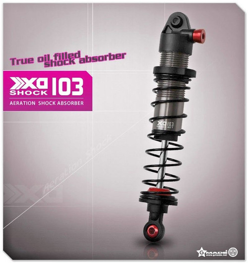 Gmade 1/10 TRUCK Shocks SUSPENSION AERATION Aluminum 103MM #gm21407