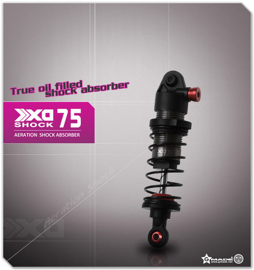 Gmade 1/10 TRUCK Shocks SUSPENSION AERATION Aluminum 75MM #gm21707