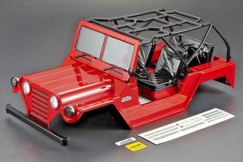 Axial SCX-10 RC Truck Body Shell 1/10 JEEP WRANGLER WARRIOR -PAINTED- RED