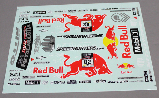 1/10 RC Car Truck RACING Drift DECALS STICKERS -RED BULL- Logos Sponsors