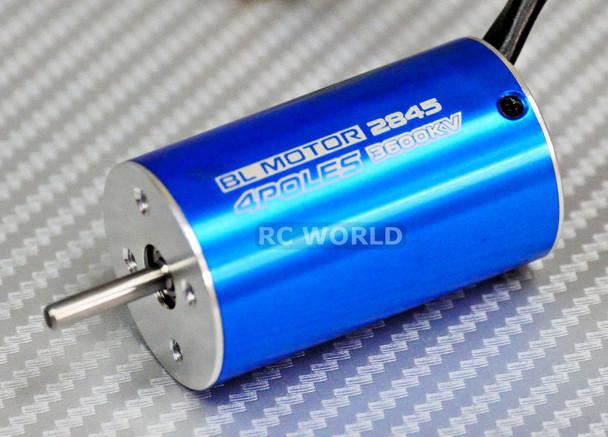 BRUSHLESS 2845 MOTOR 4 Pole 3600KV For RC 1/16 1/18