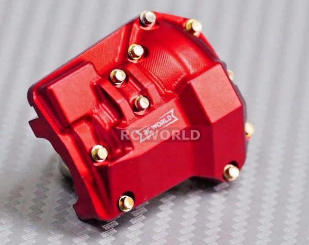 For Traxxas TRX-4 Upgrade Front METAL AXLE COVERS Diff Cover Aluminum CNC Red