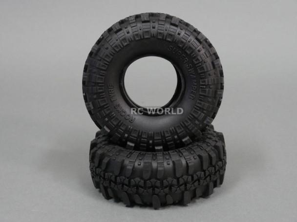 RC 1/10 Rubber TRUCK Tires SUPER SWAMPERS 1.9 ROCK CRAWLER Wheels 108 mm W/ Foam