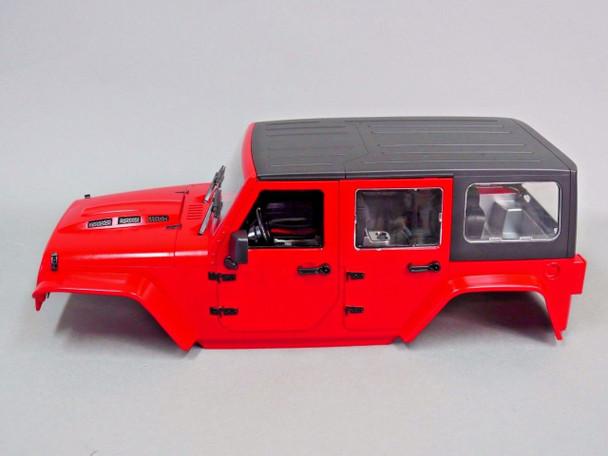 Axial RC Scale Truck Body Shell 1/10 JEEP WRANGLER RUBICON Hard Body w / INTERIOR