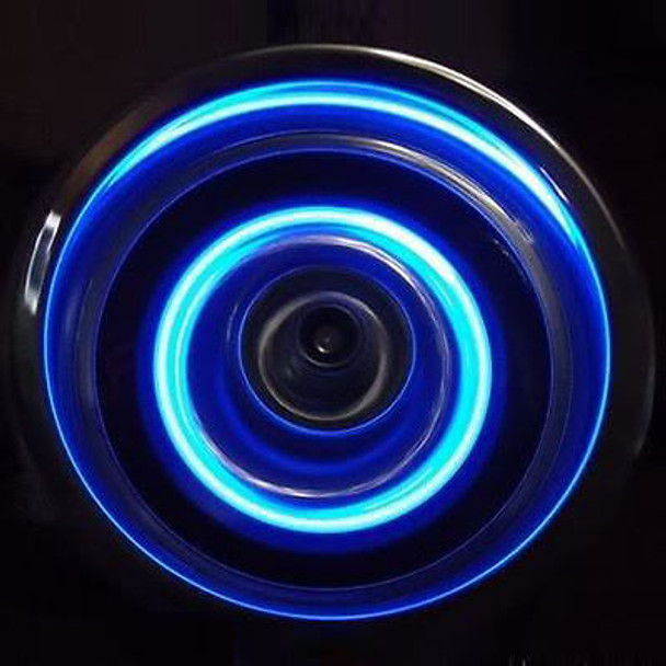 1/10 RC Car Drift LED WHEEL LIGHTS BLUE L.E.D Rotors Lights + BATTERIES INCLUDED