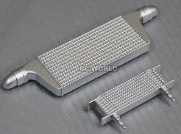 1/10 RC Car FRONT INTERCOOLER OIL COOLER Set For Body Shell PLASTIC