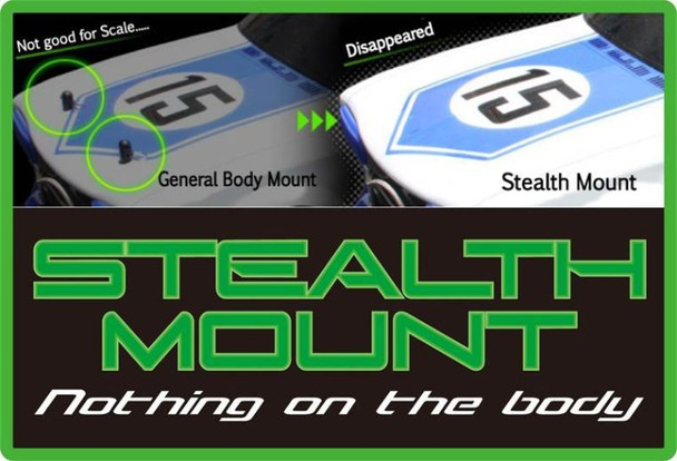 1/10 RC BODY POST STEALTH MOUNTS INVISABLE BODY MOUNTS