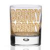 Gold Print Drinky Drinky Whiskey Glass Tumbler