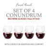 Set of 4 Aerating Red Wine Glasses