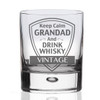 Keep Calm Grandad Whisky Glass