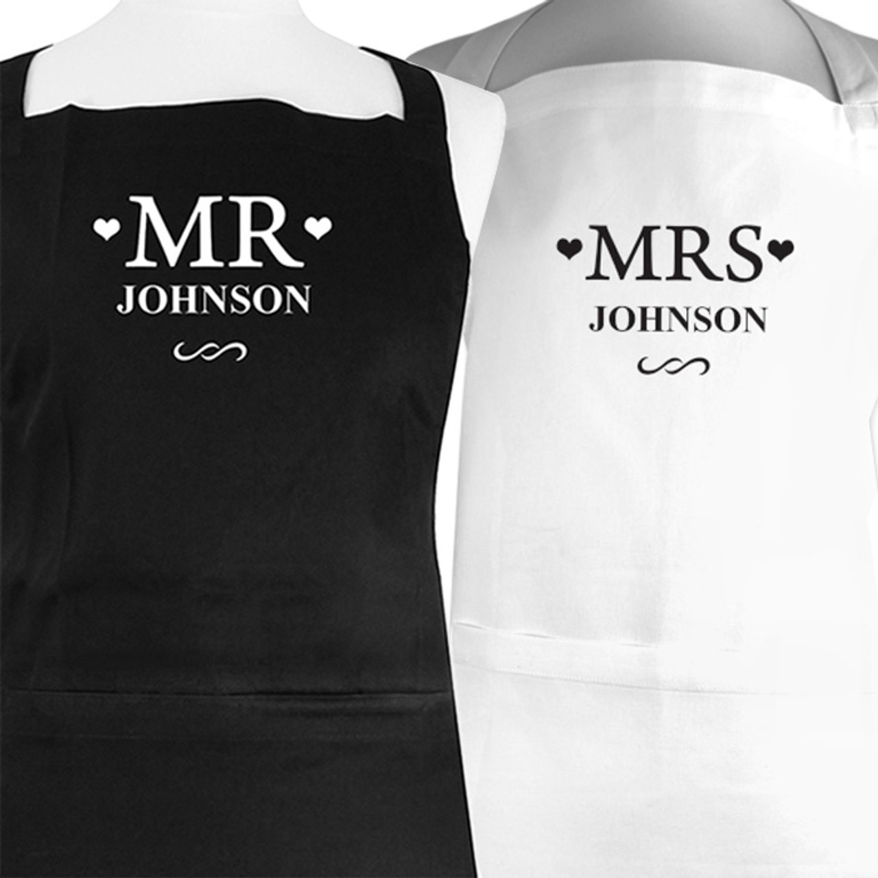 Personalised Mr & Mrs Aprons | The Kitchen Gift Company