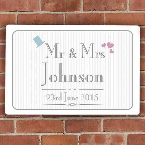 Personalised Mr & Mrs Wedding Sign