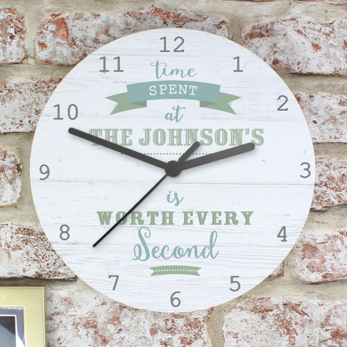 Personalised Wooden Kitchen Clock