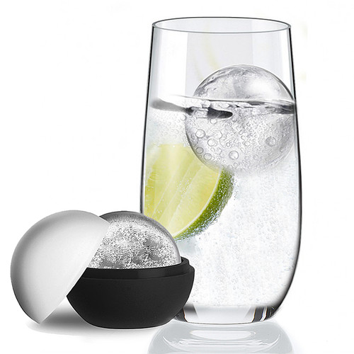 Crystal Hi ball Glass Gift Set With Mega Ice Ball Mould