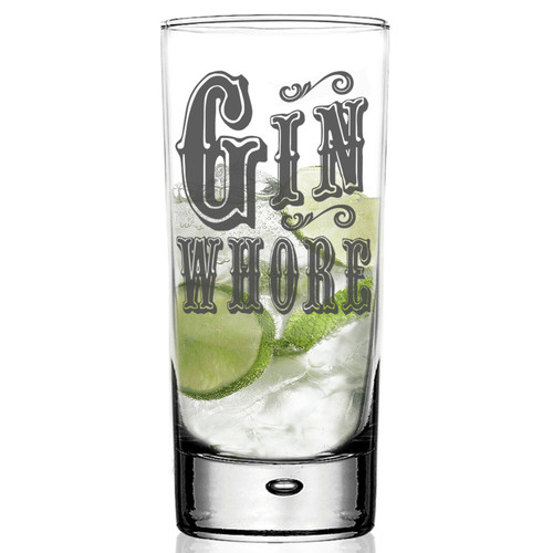 Gin Whore Funny G&T Glass
