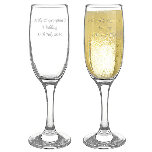 Engraved Personalised Toasting Flutes