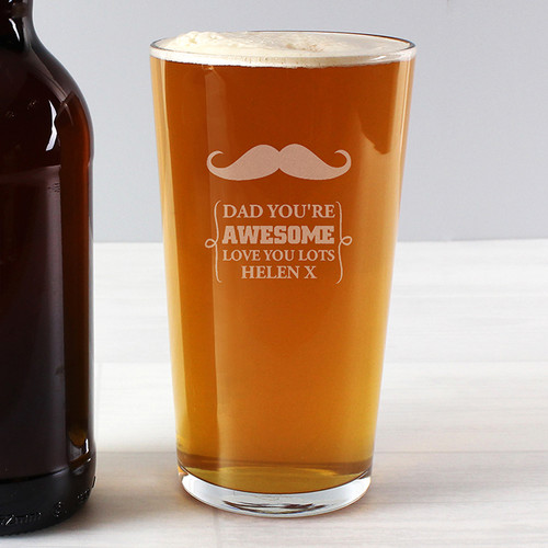 Moustache Design Beer Glass