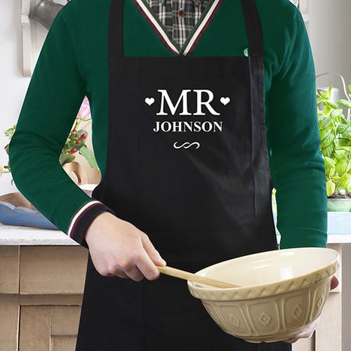 Black Mr Apron