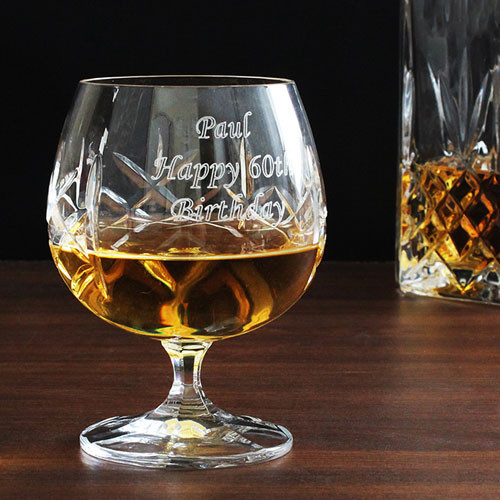 Crystal Brandy Glass