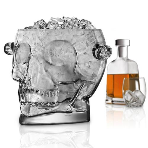 Crystal Clear Glass Ice Bucket
