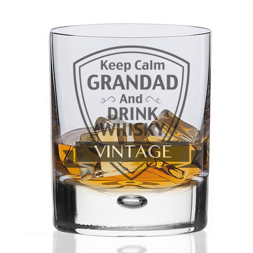 Keep Calm Grandad Whisky Tumbler