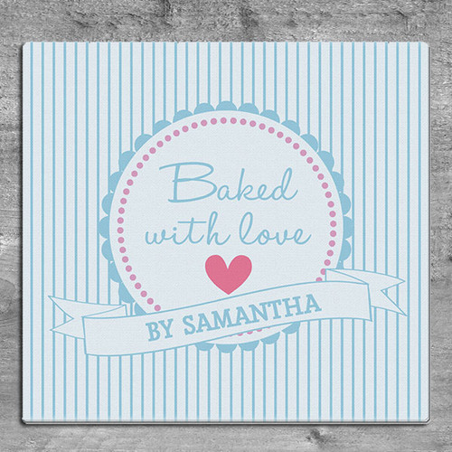 Personalised Glass Baking Chopping Board