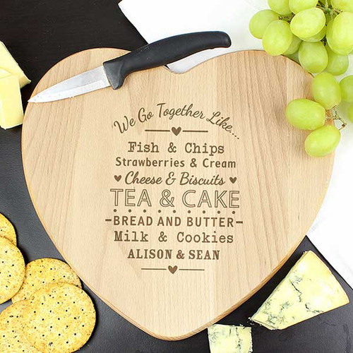 Personalised Heart Chopping Board