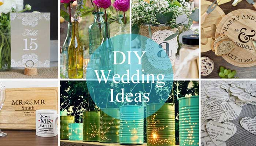 DIY Wedding Ideas - Flowers, Favours and Fab Table Decor for a unique DIY Wedding