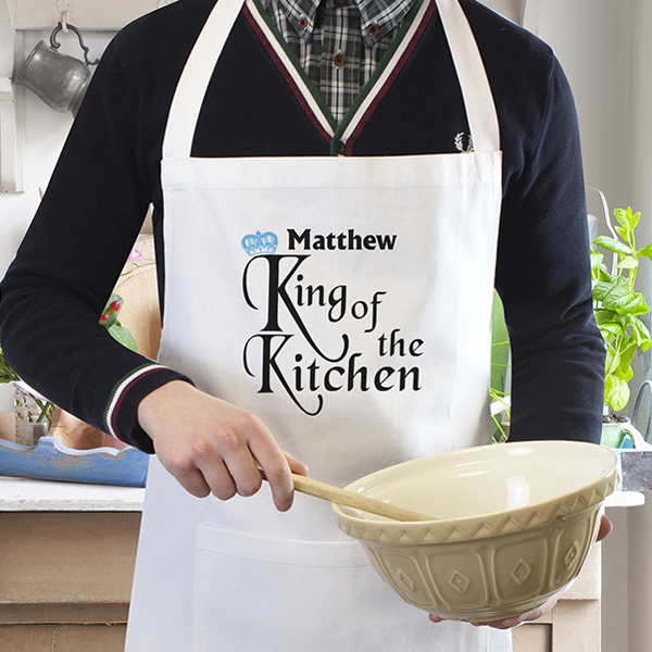 Mens Personalised King of the Kitchen Apron | The Kitchen Gift Company