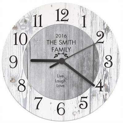 personalised shabby chic kitchen clock the kitchen gift company - Kitchen Clock