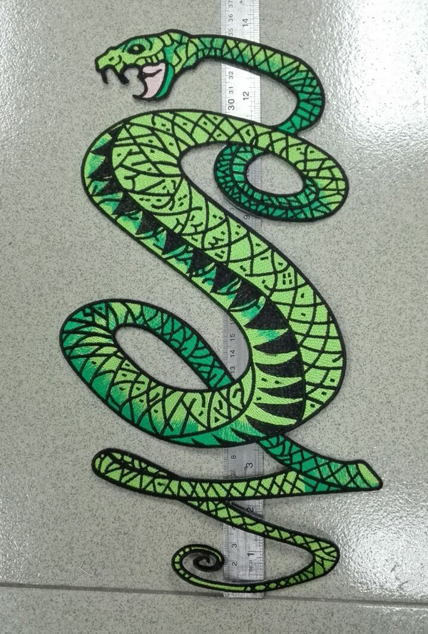 Tunnel Snakes Large Motorcycle Patch