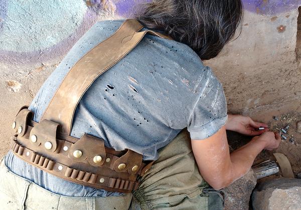 Leather Ammo Belt Harness Lawrence of Arabia Lee Enfield 303 Bandolier