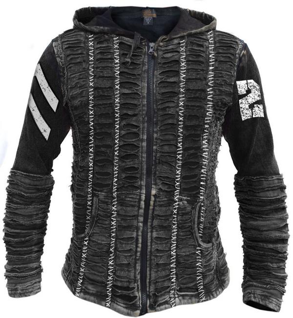 Razor hoodie black industrial hooded sweatshirt skull scalpels unisex