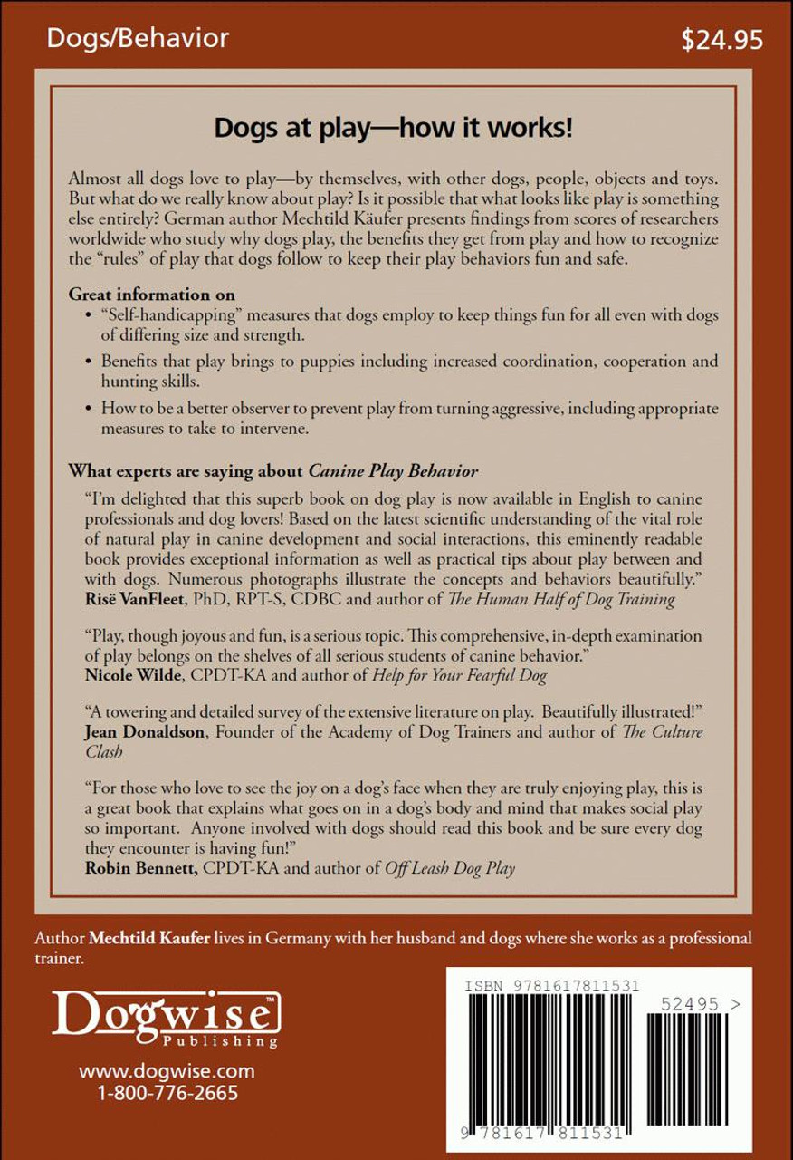 Ebook canine play behavior the science of dogs at play dogwise fandeluxe Images