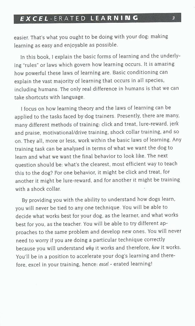 excel erated learning explaining how dogs learn and how best to
