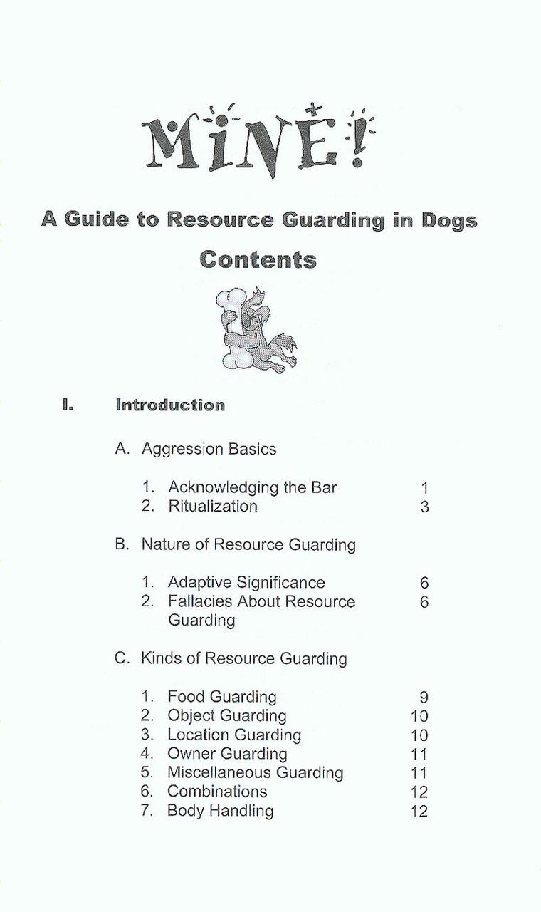 Mine a practical guide to resource guarding in dogs dogwise previous fandeluxe Gallery