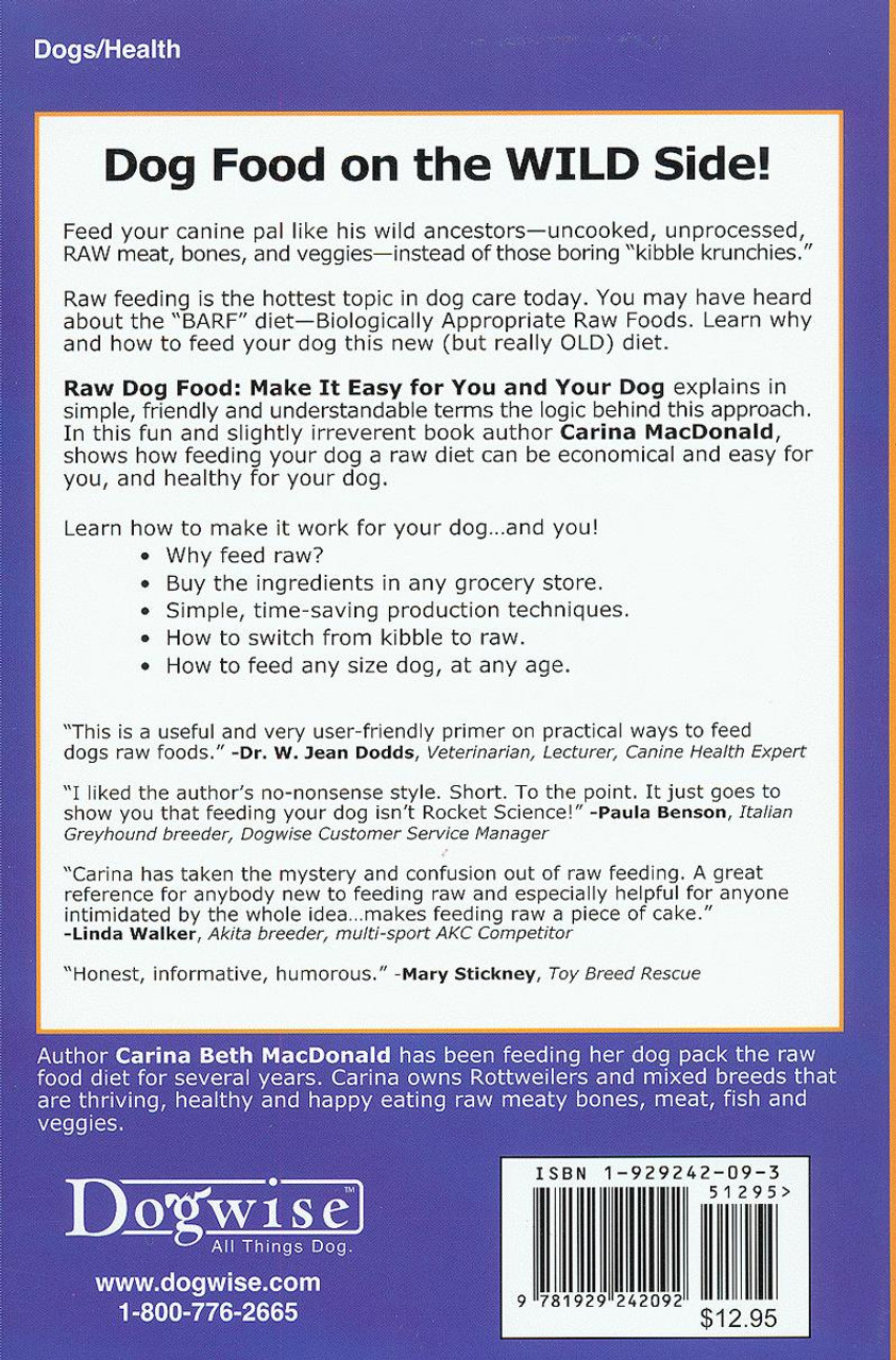 Ebook raw dog food make it easy for you and your dog dogwise previous solutioingenieria Images