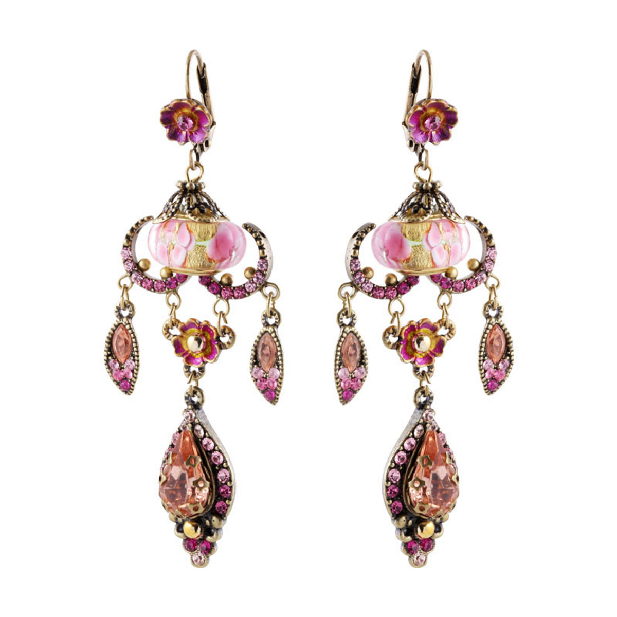 Michal Negrin Raindrop Earrings - Multi Color