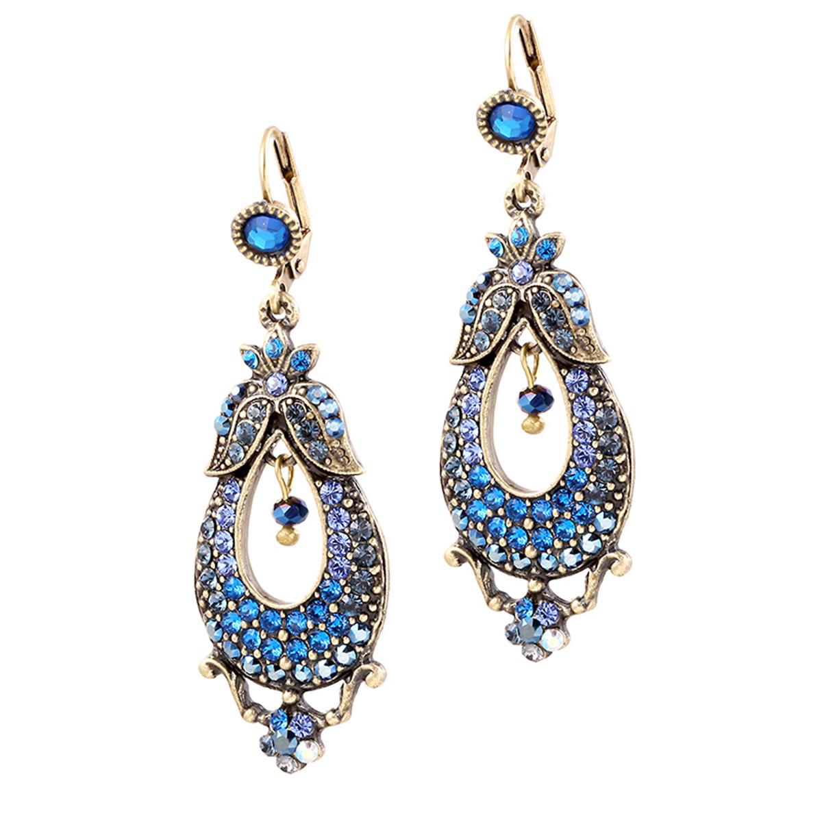 Michal Negrin Pear Earrings - Multi Color