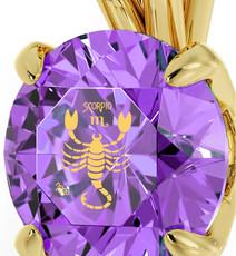 Nano Jewelry Gold Scorpio Necklace